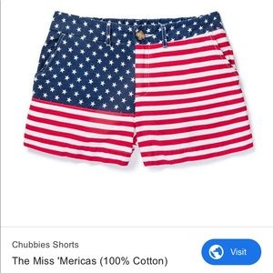 American Flag Chubbies Shorts for Women
